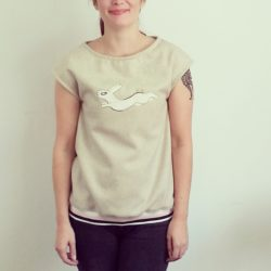 Rabbit applique top