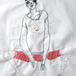 Embroidered illustration
